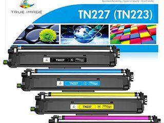 True Image Compatible Toner Cartridge Replacement for Brother TN227 TN 227 TN227BK TN223 TN 223BK Hl l3210CW Hl l3290CDW Hl l3270CDW Hl l3230CDW MFC l3710CW MFC l3750CDW MFC l3770CDW Toner  4 Pack