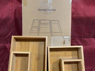 Storage Box Set   Model PISBS   light Oak