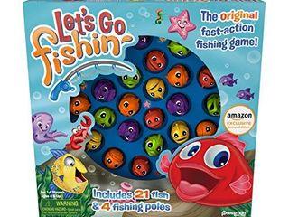 Pressman Amazon Exclusive Bonus Edition let s Go Fishin    Includes lucky Ducks Make A Match Game