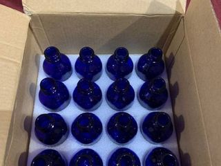 Glass Spray Bottles Set   Blue   NO TOPS