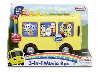 little Baby Bum 3 in 1 Music Bus with Songs  Xylophone and Push Vehicle