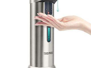 Automatic Soap Dispenser  TROPRO 7 5oz 250ml Sensor Touchless liquid Soap Dispenser  Hands Free for Kitchen  Dish Washing  Bathroom with 3 Adjustable Volume