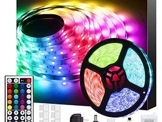 Bathebright led Strip lights 16 4ft  RGB Color Changing for Bedroom  Room  Kitchen  Ceiling with 44 Keys Remote Control