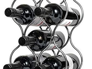Will s Tabletop Wine Rack   Imperial Trellis  5 Bottle  Silver  Freestanding countertop Wine Rack and Wine Bottle Storage  Perfect Wine Gifts and Accessories for Wine lovers  no Assembly Required