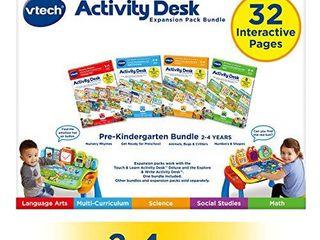 VTech Activity Desk 4 in 1 Pre Kindergarten Expansion Pack Bundle for Age 2 4