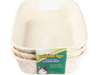 Kitty s WonderBox Plus with Baking Soda Disposable litter Box  Medium  3 Pack  W 00003 1