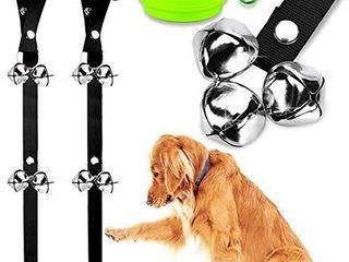 BlUETREE 2 Pack Dog Doorbells Premium Quality Training Potty Great Dog Bells Adjustable Door Bell Dog Bells for Potty Training Your Puppy The Easy Way   7 Extra large loud 1 4 DoorBells  1Bowl