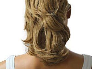 PRETTYSHOP 14  Hair Piece Pony Tail Clip On Extension Voluminous Wavy Heat Resisting Dark blonde   16 H104