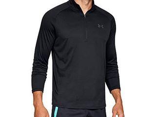 Under Armour Men s Tech 2 0 1 2 Zip Up T Shirt   Black  001 Charcoal   XX large Tall