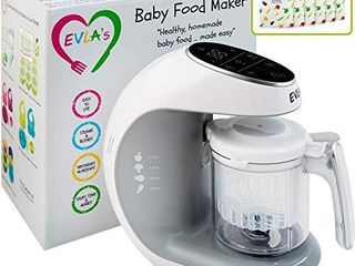 Baby Food Maker   Baby Food Processor Blender Grinder Steamer   Cooks   Blends Healthy Homemade Baby Food in Minutes   Self Cleans   Touch Screen Control   6 Reusable Food Pouches
