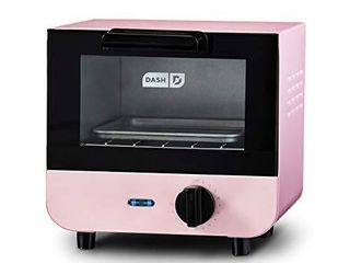 Dash DMTO100GBPK04 Mini Toaster Oven Cooker for Bread  Bagels  Cookies  Pizza  Paninis   More with Baking Tray  Rack  Auto Shut Off Feature  Pink