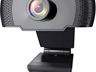1080P Webcam with Microphone  Wansview USB 2 0 Desktop laptop Computer Web Camera with Auto light Correction  Plug and Play  for Video Streaming  Conference  Game Study