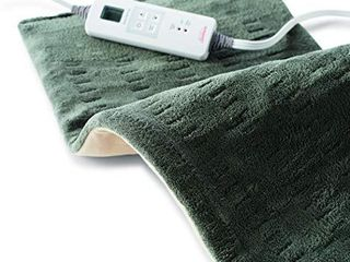 Sunbeam Heating Pad for Fast Pain Relief   X large  King XpressHeat  6 Heat Settings with Auto Shutoff   Green  12 x 24 Inch  X large
