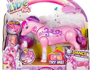 little live Pets   Sparkles My Dancing Interactive Unicorn   Dances   lights to Music   Engaging Fun   Batteries Included   For Ages 5