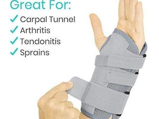 Vive Carpal Tunnel Wrist Brace  left or Right    Arm Compression Hand Support Splint   for Men  Women  Kids  Bowling  Tendonitis  Arthritis  Athletic Pain  Sports  Golf   Universal Adjustable Fit