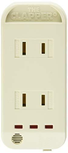 The Clapper  Wireless Sound Activated On Off light Switch  Clap Detection  Perfect for Kitchen Bedroom TV Appliances  120 V Wall Plug  Smart Home Technology  As Seen On TV Household Gift