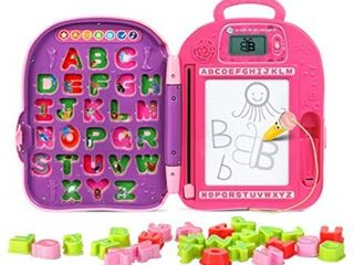leapfrog go with me abc backpack  pink