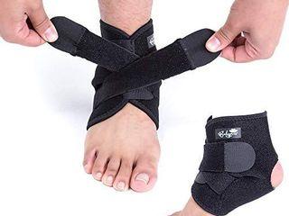 Ankle Support Brace  Breathable Neoprene Sleeve  Adjustable Wrap