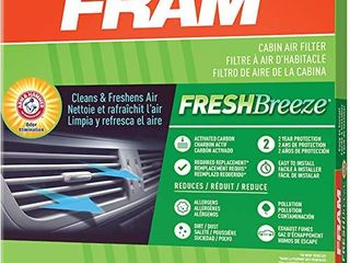 FRAM Fresh Breeze Cabin Air Filter with Arm   Hammer Baking Soda  CF10747 for Dodge Jeep Vehicles