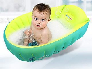 relaxing baby Inflatable Baby Bathtub  Small Bathtub Seat for Baby Sitting Up  Portable Bathtub Chair for Baby Girl Travel Tub Accessories with 2 Funny Bath Toys   Air Pump for Newborn   6 Years Old