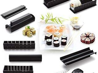 Sushi Making Kit for Beginners   Original Sushi Maker Deluxe Exclusive Online Video Tutorials Complete with Sushi Knife 11 Piece DIY Sushi Set   Easy and Fun   Sushi Rolls   Maki Rolls