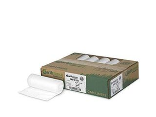 Earthsense Commercial RNW1K150V Recycled Can liner  13 gal   85 mil  24  x 33  White  Pack of 150