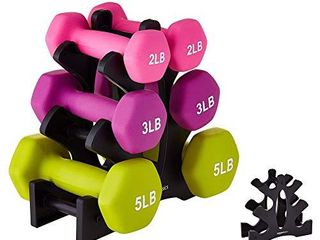 IMFUN Dumbbell Rack  Compact Dumbbell Bracket Free Weight Durable Barbell Rack Hand Weight Stand for Home Fitness Gym Black
