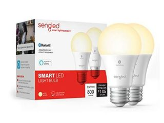 Sengled Bluetooth Smart Bulb 2 Pack  Works with only Alexa  Dimmable lED  800lM  Soft White 2700K  60W Equivalent  Certified for Humans Device