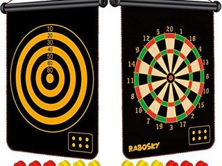 RaboSky Dart Game Toy for Boys Age 6 7 8 9 10 11 12 Year Old  Boys Birthday Gifts for Age 6 to 12  Safe Magnetic Dart Board for Kids  12PCS Magnetic Darts