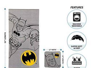Franco Kids Bath and Beach Soft Cotton Terry Towel with Washcloth Set  25  x 50  Batman