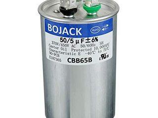 BOJACK 50 5uF 50 5MFD A5  370V 440V CBB65 Dual Run Circular Start Capacitor for AC Motor Run or Fan Start or Condenser Straight