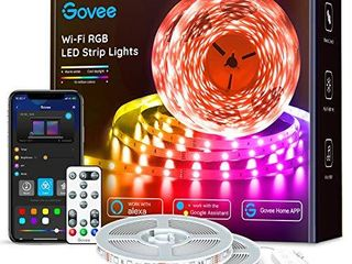 Govee 65 6ft Alexa lED Strip lights  Smart WiFi RGB Rope light Works with Alexa Google Assistant  Remote App Control lighting Kit  Music Sync Color Changing lights for Bedroom  living Room  Kitchen