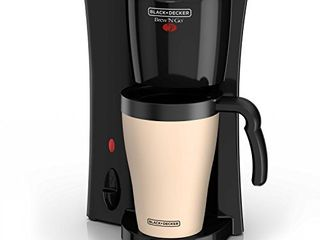 BlACK DECKER Brew  n Go Personal Coffeemaker with Travel Mug  Black Beige  DCM18