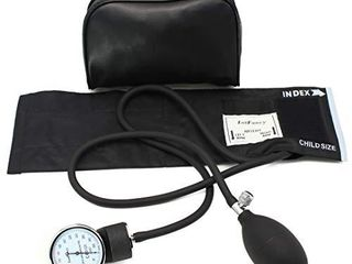 Aneroid Sphygmomanometer by lotFancy  Professional Manual Blood Pressure Monitor with Adult Black Cuff and Carrying Case  X  large Thigh BP Cuff 16 26in