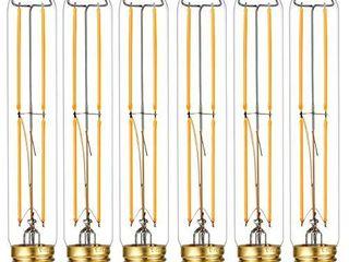 liteHistory Dimmable E26 light Bulb 6W Equal 60 watt led light Bulb AC120V Warm White 2700K Edison light Bulbs 60 Watt 600lM T10 led Bulb for Rustic Pendant Industrial Pipe Wall scones Vanity 6Pack