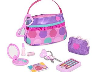 Play Circle by Battat Princess Purse Style Set Pretend Play Multicolor Handbag and Fashion AccessoriesToy Makeup  Keys  lipstick  Credit Card  Phone  and More for Kids Ages 3 and Up  8 pieces   PC2240Z