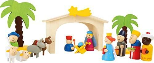 Small Foot Wooden Toys Premium Nativity Manger Complete Set Designed for Children Ages 3  Years  3945