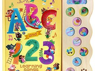 ABC   123 learning Songs  Interactive Children s Sound Book  11 Button Sound   Early Bird Song