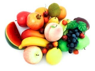 AlEKO AFA1 Decorative Realistic Artificial Fruits Assortment  Set of 32