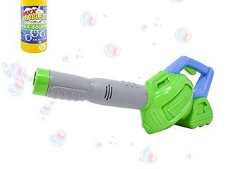 Sunny Days Entertainment Bubble leaf Blower with Refill Solution Bubble Blower Machine   Outdoor Toys for Toddlers