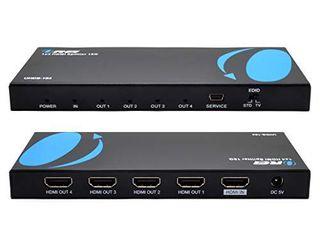 Orei UltraHD 4K   60 Hz 1 X 4 HDMI Splitter 1 in 4 Out 4 Port 4  8 Bit   HDMI 2 0  HDCP 2 0  18 Gbps  EDID  Duplicate   Mirror 4K Screens   UHDS 104