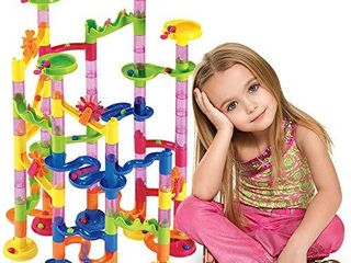 Marble Run Set 105 Pcs   Construction Building Blocks Toys Game for 4 5 6 7 Year Old Boys Girls Kids