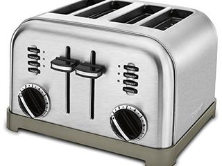 Cuisinart CPT 180P1 Metal Classic 4 Slice toaster  Brushed Stainless