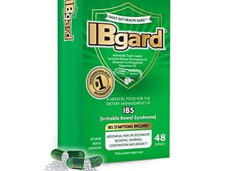 IBgard for The Dietary Management of Irritable Bowel Syndrome  IBS  Symptoms Including  Abdominal Pain  Bloating  Diarrhea  Constipationa  48 Capsules