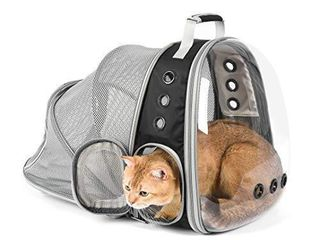 Jerrycat Expandable Cat Backpack  Space Capsule Bubble Transparent Clear lightweight Ventilation Pet Carrier for Small Dog