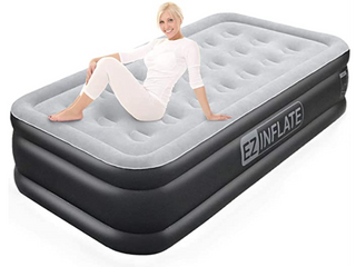 Ez Inflate Double High luxury Twin Air Mattress With Built In Pump Inflatable