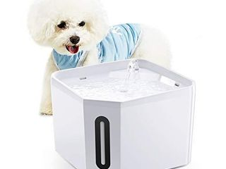 isYoung Pet Fountain  84oz 2 5l Automatic Cat Water Fountain Ultra Quiet Dog Water Dispenser for Cats  Dogs  Small Pets