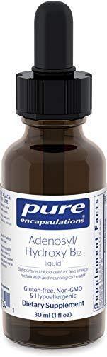Pure Encapsulations   Adenosyl Hydroxy B12 liquid   Vitamin B12 to Promote Nerve and Mitochondrial Health   1 fl  oz