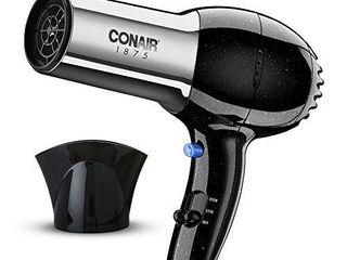 Conair 1875 Watt Full Size Pro Hair Dryer with Ionic Conditioning  Black Chrome