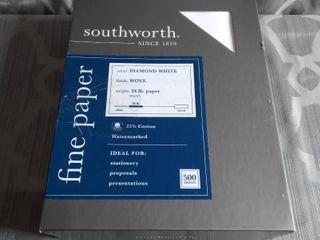 SOUTHWORTH  DIAMOND WHITE  WOVE  24lB PAPER